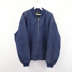 Vintage 80s Sears Full Zip Bomber Jacket Blue L